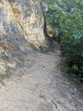 Long Sandy Outdoor Pathway image stock