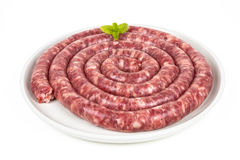 Long sausage longaniza Royalty Free Stock Photography