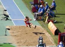 Long saut Photographie stock