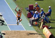 Long saut Image libre de droits