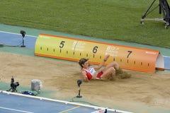 Long saut Photos stock