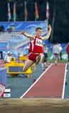 Long saut Lettonie Photographie stock