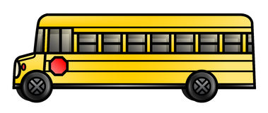 Long School Bus Royalty Free Stock Image