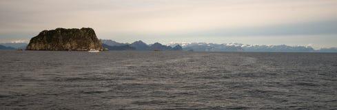 Resurrection Bay Wrangell Mountains Cruise Ship Ferry Alaska Royalty Free Stock Photo
