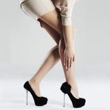 Long sexy woman legs.beauty female legs in high heels Royalty Free Stock Image
