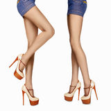 Long sexy woman legs in high heels Royalty Free Stock Photo