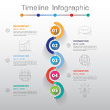 Long Shadow Design clean number timeline template/graphic or web Royalty Free Stock Image