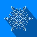 Long shadow filigree snowflake icon Royalty Free Stock Photography