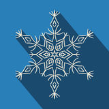 Long shadow filigree snowflake icon Stock Photos