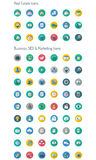 Long Shadow Icon Set. Full Pack Real Estate, Business, CEO and Marketing Icons Stock Image