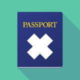 Long shadow passport with an irritating substance sign Stock Images