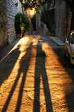 Long Shadows in Assisi Royalty Free Stock Images