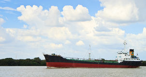 Free Long Ship On A River Stock Images - 16348534