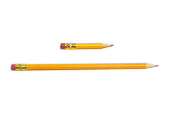 Long and Short Pencils Royalty Free Stock Image