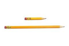Long and Short Pencils Royalty Free Stock Image