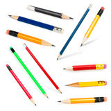 Long and short Pencils collection Royalty Free Stock Photos
