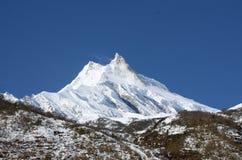 Long shot of the Manaslu mountain Royalty Free Stock Image