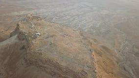 Long shot of masada fortress stock video