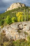Rock formations and autumn. Long shot of rock formations in autumn Stock Image