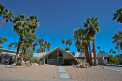 Long Shot of Swiss Miss House in Palm Springs Royalty Free Stock Images