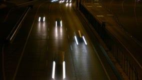 Long Shutter Traffic Car Light Streaks Stock Photography