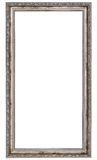 Long silver frame. Very long wooden frame isolated on white background Stock Photos