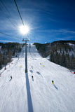 The Long Ski Run Stock Images