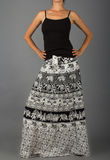 Long Skirt with Oriental Ornament Stock Image