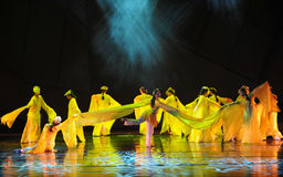 Long sleeve dance-The dance drama The legend of the Condor Heroes Stock Photography