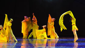 Long sleeve dance-The dance drama The legend of the Condor Heroes Royalty Free Stock Image
