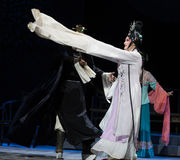 """Long sleeve dance- imperial harem or seraglio-Jiangxi opera """"Red pearl"""" Royalty Free Stock Photos"""