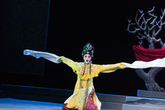 "Long sleeve dance- imperial harem or seraglio-Jiangxi opera ""Red pearl"" Stock Photos"