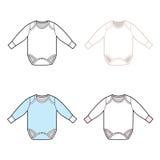 Long Sleeve Infant Bodysuit Set royalty free illustration