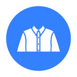 Long sleeve shirt icon of vector illustration for web and mobile Royalty Free Stock Images