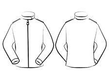 Vector jacket template isolated on line art stock image