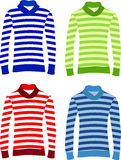 Long Sleeve Striped Sweaters Royalty Free Stock Photos