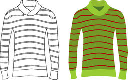 Long Sleeve Striped Sweaters Stock Photography