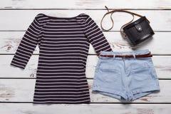 Long sleeve top and shorts. Royalty Free Stock Photos