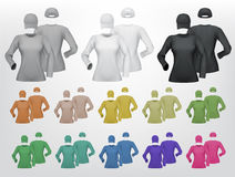 Long sleeve women blank t-shirt and cap template Royalty Free Stock Photo