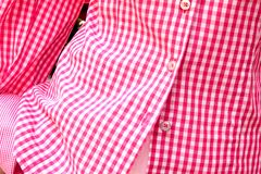 Long-sleeved Shirt in a red checkered print Stock Photo
