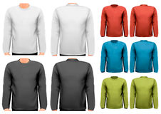 Long sleeved shirts with sample text space. Vector Stock Photos
