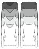 Long-sleeved T-shirt design template Stock Photos