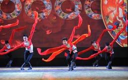 The long sleeves of basic skills-The national dance training Stock Photo