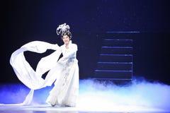 Long sleeves-Jiangxi OperaBlue coat Royalty Free Stock Photos