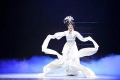 Long sleeves-Jiangxi OperaBlue coat Stock Photo