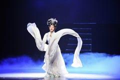 The long sleeves.-Jiangxi OperaBlue coat royalty free stock photo