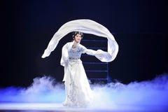 Long sleeves-Jiangxi OperaBlue coat Stock Images
