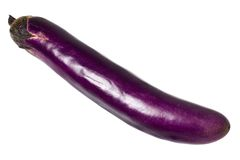 Long slender brinjal Royalty Free Stock Image