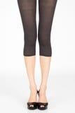 Long slim female legs Royalty Free Stock Photography