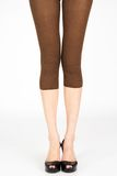 Long slim female legs Stock Photo